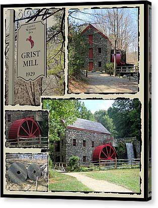 Longfellow's Grist Mill Canvas Print by Patricia Urato