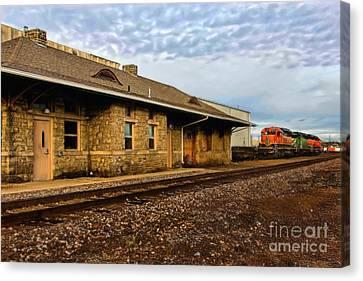 Longmont Depot Canvas Print by Jon Burch Photography