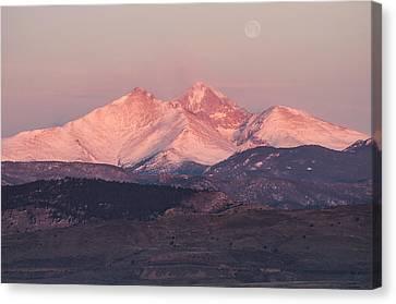 Longs Peak 4 Canvas Print by Aaron Spong