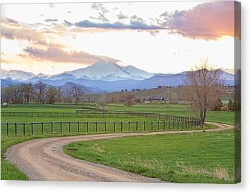 Longs Peak Springtime Sunset View  Canvas Print by James BO  Insogna