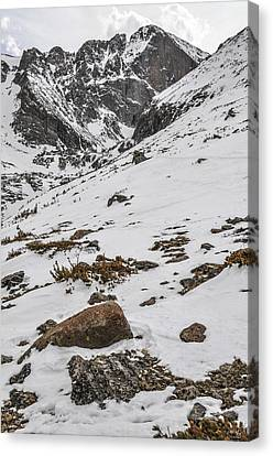 Longs Peak -  Vertical Canvas Print by Aaron Spong