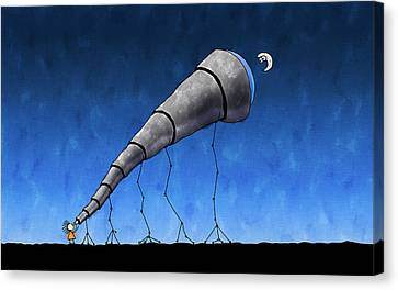 Look At Me Moon Canvas Print by Gianfranco Weiss