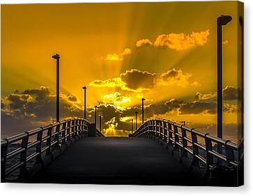 Look Into The Rays Canvas Print by Marvin Spates