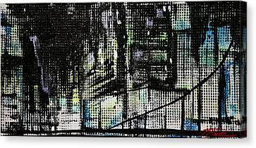 Look Up Manhattan At Night Canvas Print by Jack Diamond