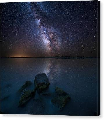 Looking At The Stars Canvas Print by Aaron J Groen