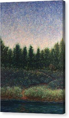 Looking Back Canvas Print by James W Johnson