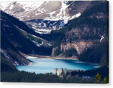 Looking Down At Lake Louise Photograph By Stuart Litoff