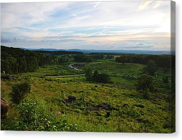 Looking Down On Devils Den Canvas Print by William Fox