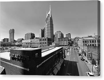 Looking Down On Nashville Canvas Print by Dan Sproul