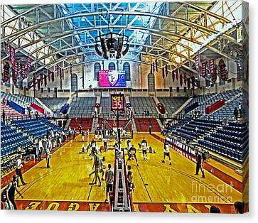Looking Down The Length Of The Court Canvas Print by Tom Gari Gallery-Three-Photography