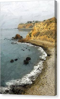 Looking North To The Lighthouse Canvas Print by Ron Regalado