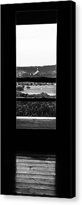 Looking Out A Country Door. Canvas Print by Darryl Dalton