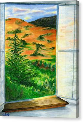 Looking Out The Window Canvas Print by Colleen Ward