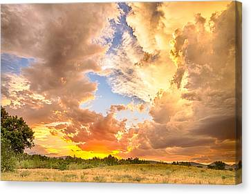 Looking Through The Colorful Sunset To Blue Canvas Print by James BO  Insogna