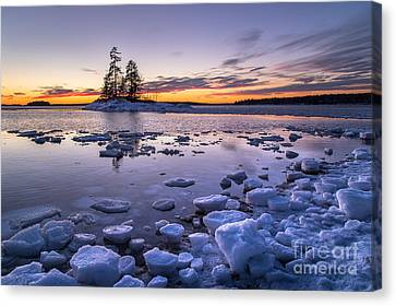Lookout Point Ice Canvas Print by Benjamin Williamson