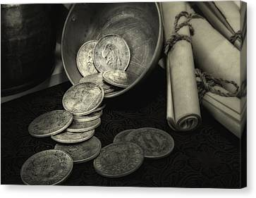 Loose Change Still Life Canvas Print by Tom Mc Nemar