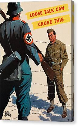 Loose Talk Can Cause This Canvas Print by Adolph Treidler