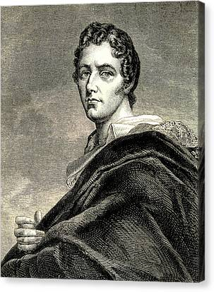 Lord Byron Canvas Print by Collection Abecasis
