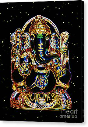 Lord Ganesh Destroys Obstacles Canvas Print by Tarik Eltawil