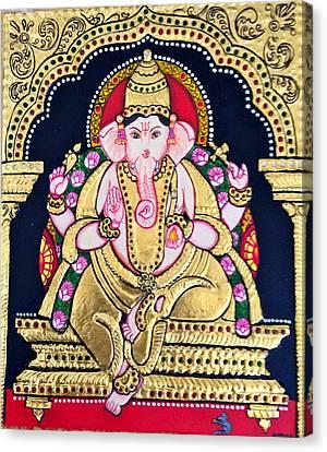 Lord Ganesha Canvas Print by Ambika Aggarwal