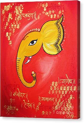 Lord Ganesha Canvas Print by Prajakta P