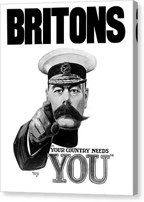 Lord Kitchener - Britons Your Country Needs You Canvas Print by War Is Hell Store