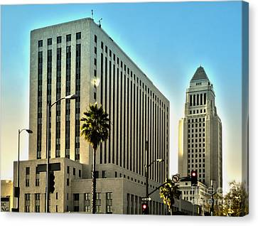 Los Angeles City Hall Canvas Print by Gregory Dyer
