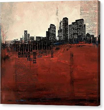 Los Angeles Collage 3 Alternative Canvas Print by Corporate Art Task Force
