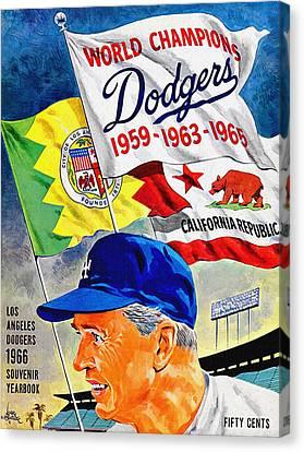 Los Angeles Dodgers 1966 Yearbook Canvas Print by Big 88 Artworks