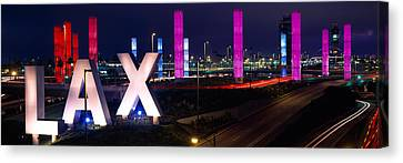 Los Angeles Intl Airport Los Angeles Ca Canvas Print by Panoramic Images