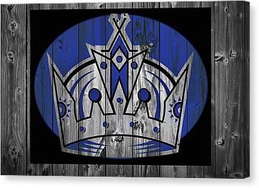 Los Angeles Kings Barn Door Canvas Print by Dan Sproul