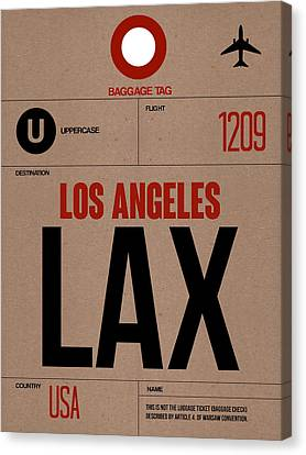 Los Angeles Luggage Poster 1 Canvas Print by Naxart Studio