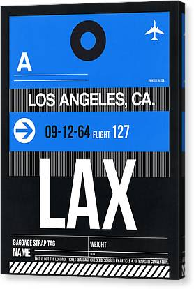 Los Angeles Luggage Poster 3 Canvas Print by Naxart Studio