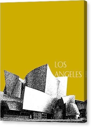 Los Angeles Skyline Disney Theater - Gold Canvas Print by DB Artist