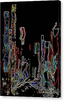 Losing Equilibrium - Abstract Art Canvas Print by Carol Groenen