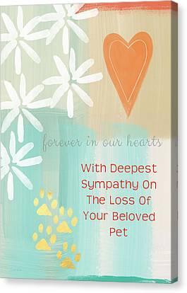 Loss Of Beloved Pet Card Canvas Print by Linda Woods