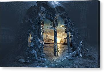 Lost City Of Atlantis Canvas Print by George Grie
