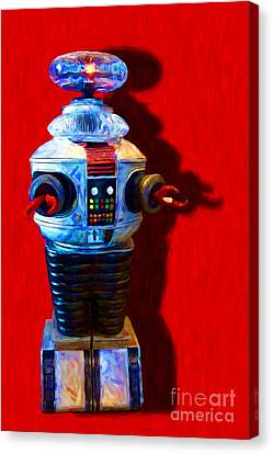 Lost In Space Robot - 20130117 Canvas Print by Wingsdomain Art and Photography