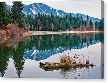 Lost Lake Log Canvas Print by James Wheeler