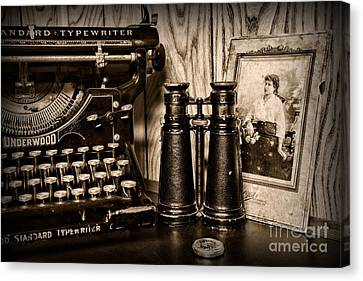 Lost Love In Black And White Canvas Print by Paul Ward
