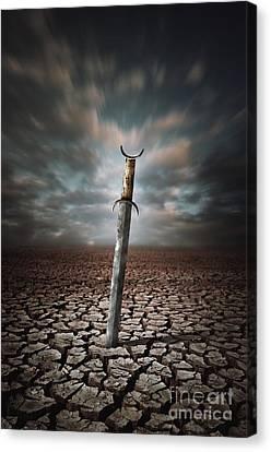 Lost Sword Canvas Print by Carlos Caetano