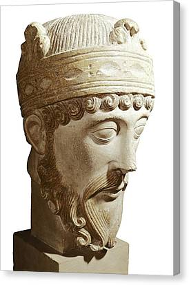 Lothair 941-986. King Of France Canvas Print by Everett