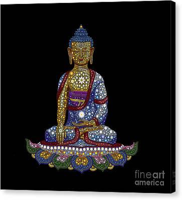 Lotus Buddha Canvas Print by Tim Gainey