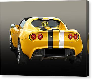 Lotus Elise In Yellow Canvas Print by Gill Billington
