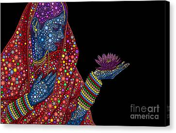Lotus Girl Canvas Print by Tim Gainey