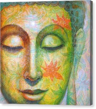 Lotus Meditation Buddha Canvas Print by Sue Halstenberg
