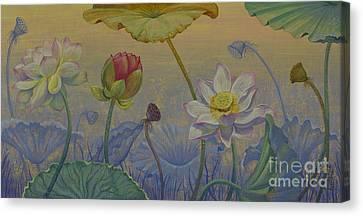 Lotus Path Canvas Print by Yuliya Glavnaya
