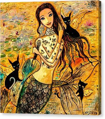 Lotus Pool Canvas Print by Shijun Munns