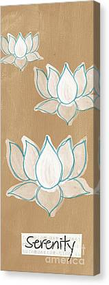 Lotus Serenity Canvas Print by Linda Woods