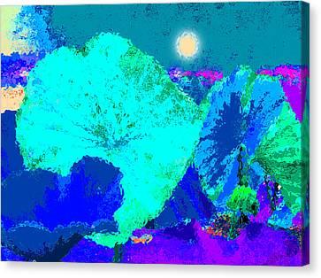 Lotus Sleeping Canvas Print by John Lautermilch